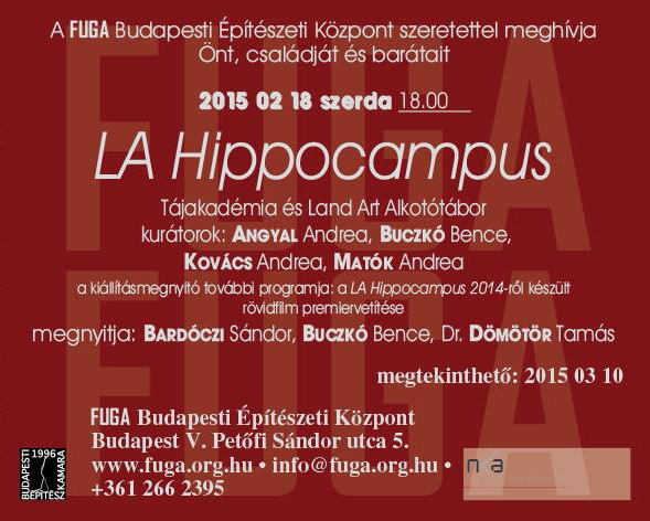FUGA Hippocampus kiállítás meghívó_